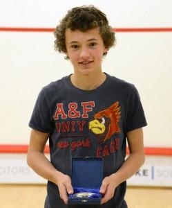 Boys U15: Jonny Camfield, runner up.