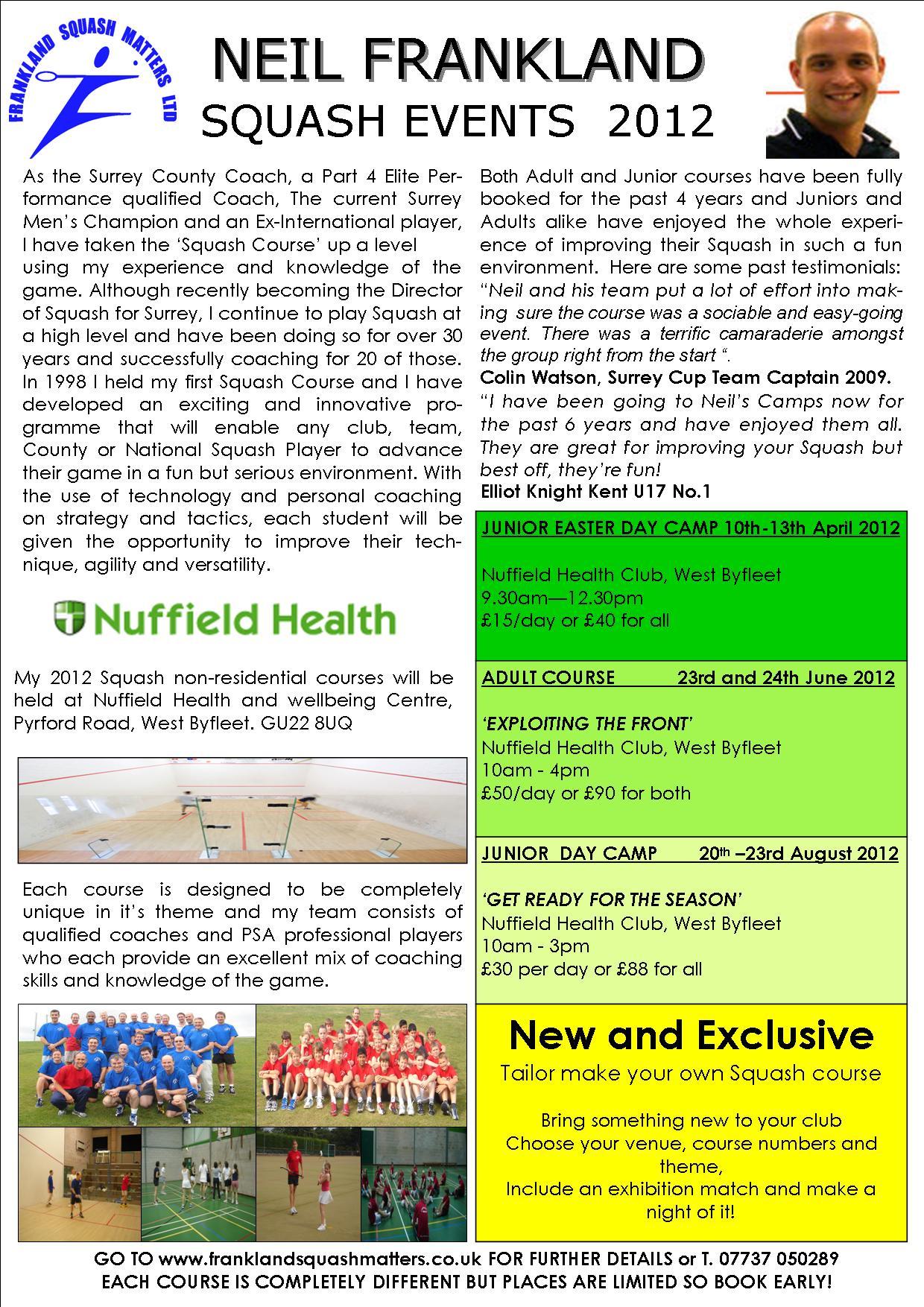 David Lloyd Epsom >> Nuffield Health Club West Byfleet
