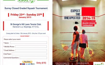 Surrey Closed 2015 – online entries OPEN