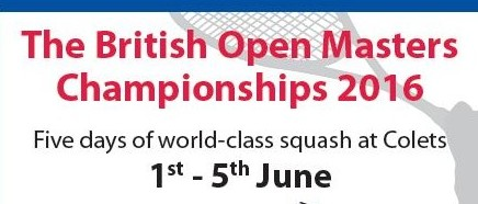 Colets to Host British Open Masters Championships!
